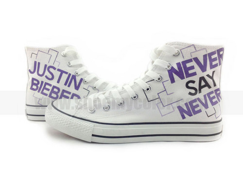 Justin Bieber Never Say Never hand painted shoes