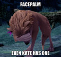 Kate Facepalm - alpha-and-omega photo