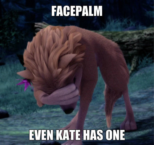 Kate Facepalm