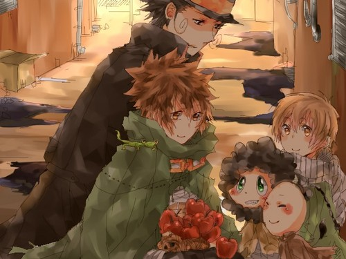 Tutor Hitman Reborn! wallpaper possibly containing a bouquet called Katekyo Hitman Reborn! RPG AU