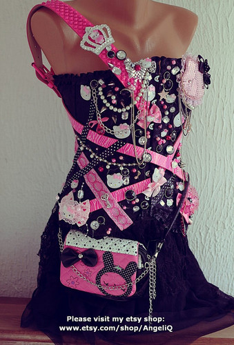 Katy Perry Inspired Hello Kitty corset