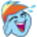 Laughing Rainbow Dash