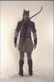 Legolas Greenleaf wallpaper containing a rifleman, a green beret, and battle dress entitled Legolas - costume scene