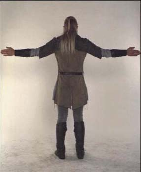Legolas Greenleaf wallpaper possibly containing a hip boot and a surcoat called Legolas - costume scene