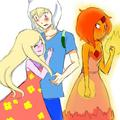 Love Triangle?? - adventure-time-with-finn-and-jake fan art