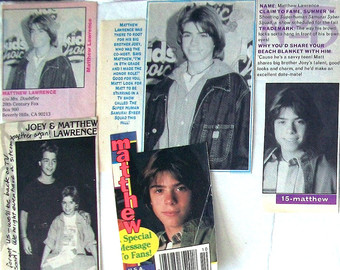 Matthew in magazine cutouts