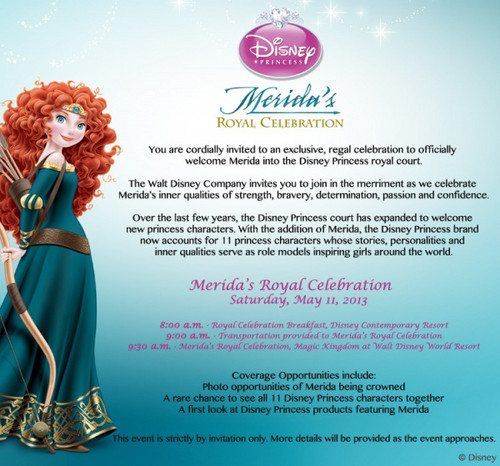 Merida's Official Coronation Invitation