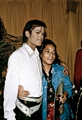 Michael Backstage With A Fan - michael-jackson photo