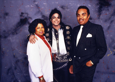 Michael Backstage With His Parents, Katherine And Joseph