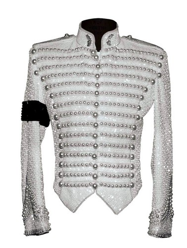 Michael's Custom-made Beaded Military koti, jacket