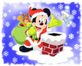 Mickey Mouse Santa  - mickey-mouse wallpaper