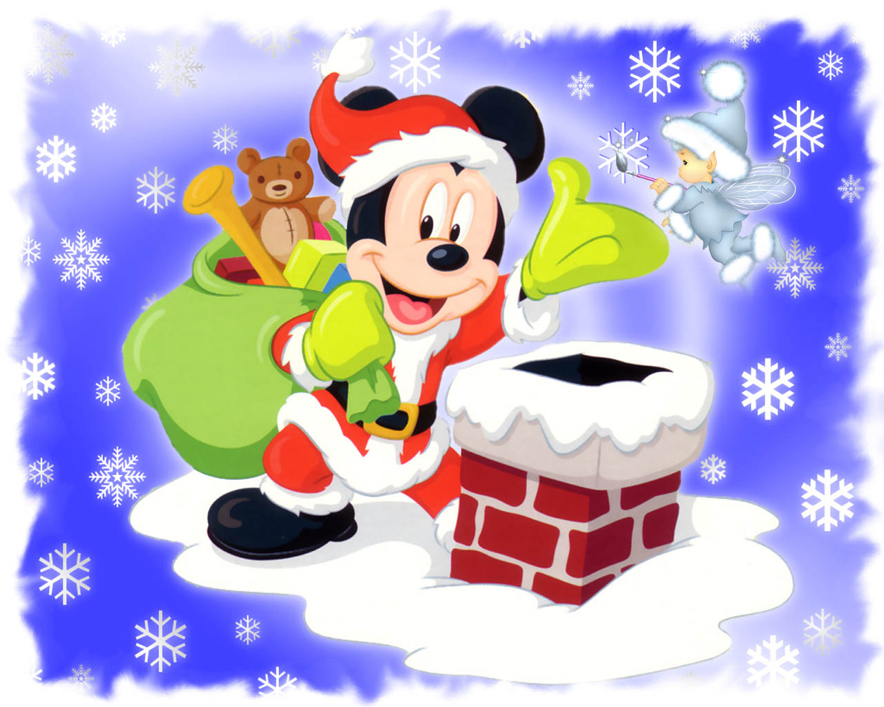 Mickey mouse santa wallpaper