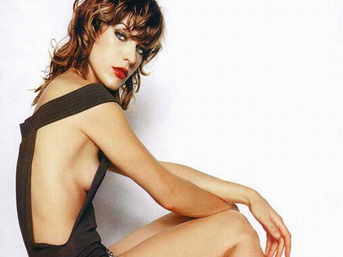 Milla Jovovich karatasi la kupamba ukuta possibly with tights, attractiveness, and support hose entitled Milla