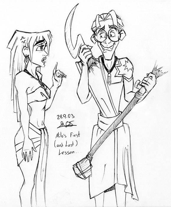 Milo And Kida Atlantis The Lost Empire Fan Art 34375289 Fanpop