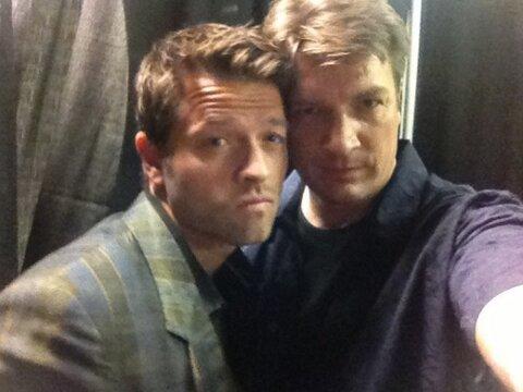 Misha & Nathan Fillion