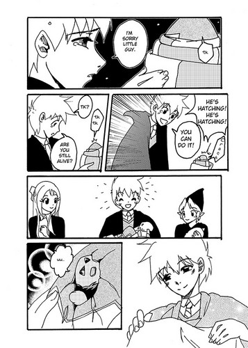 Rise of the Guardians Hintergrund possibly with a newspaper and Anime entitled Mishap of Mischief: a Jack Frost Doujin pg28