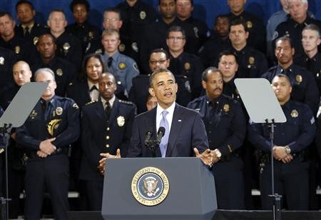Obama Giving His address