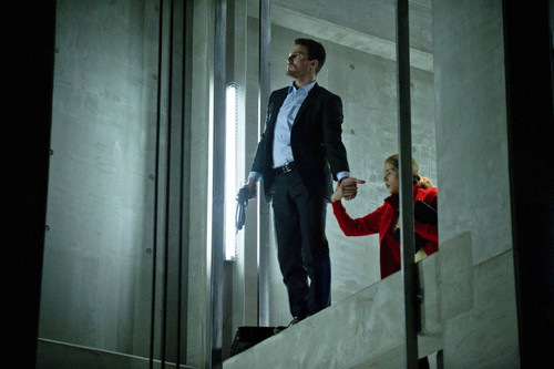 Oliver & Felicity wolpeyper containing a business suit titled Oliver and Felicity 1x22