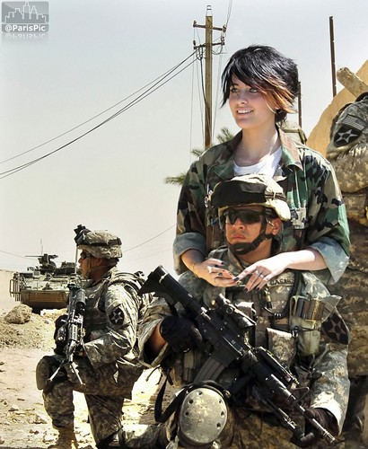 Paris Jackson wallpaper with a rifleman, a green beret, and fatigues called Paris Jackson Army Soldier Military (@ParisPic)