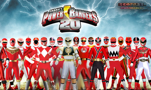 The Power Rangers karatasi la kupamba ukuta containing regimentals, a bandsman, and a full dress uniform called Power Rangers