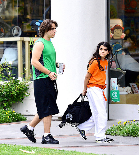 Prince Jackson and his brother Blanket Jackson at the Karate in Encino NEW May 2013 ♥♥
