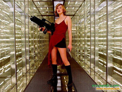 Resident Evil Movie 壁纸 with a conservatory entitled Resident Evil