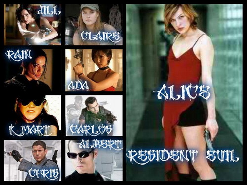 Resident Evil Movie wallpaper possibly with a portrait titled Resident Evil