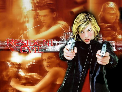Resident Evil Movie 壁纸 possibly containing a 音乐会 and a portrait called Resident Evil