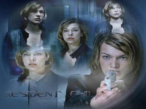 Resident Evil Movie پیپر وال with a portrait called Resident Evil