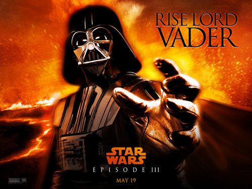 bintang Wars: Revenge of the Sith wallpaper containing anime entitled Rise Lord Vader