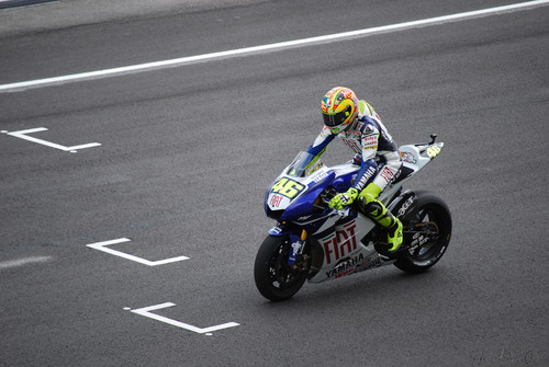 Rossi on track
