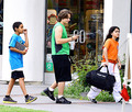 Royal Jackson with his cousins Prince Jackson and Blanket Jackson in Encino NEW May 2013 