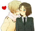 RusLiet - hetalia-couples fan art