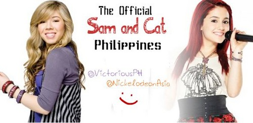 Sam & Cat Fans wallpaper containing a portrait titled Sam & Cat Wallpaper
