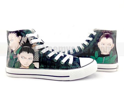 Shikamaru Nara/Shikaku hand painted shoes