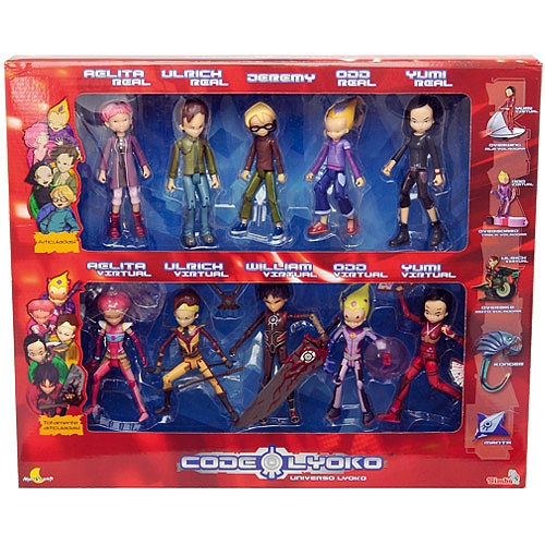 Code Lyoko kertas dinding possibly containing Anime entitled Spanish exclusive figures