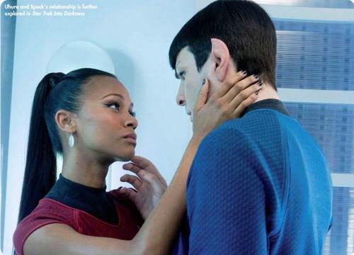 Spock & Uhura star, sterne Trek Magazine