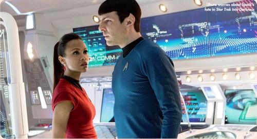 Spock & Uhura estrella Trek Magazine