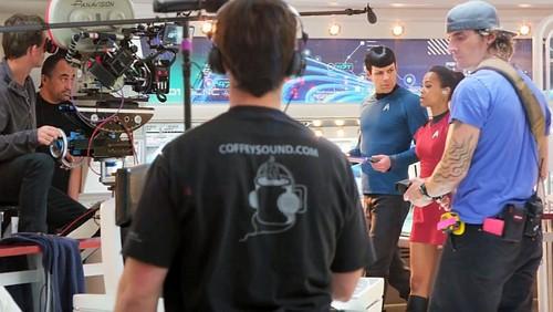 bintang Trek into Darkness behind the scenes
