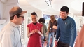 Star Trek into Darkness behind the scenes - spock-and-uhura photo
