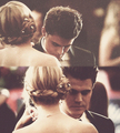 Stefan and Caroline dance at prom