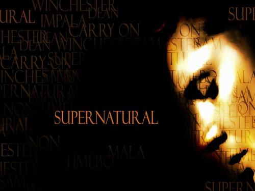 supernatural fondo de pantalla containing a sign entitled supernatural