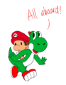 Taking Babies Out for Walks.... - yoshi fan art