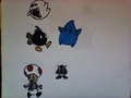The Mario Characters - sharpies fan art