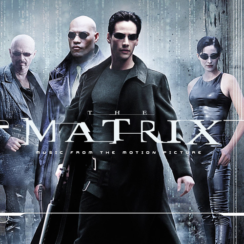 The Matrix Hintergrund probably containing a well dressed person, long trousers, and an outerwear called The Matrix