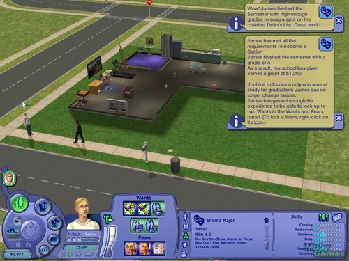 The Sims 2: chuo kikuu, chuo kikuu cha screenshot