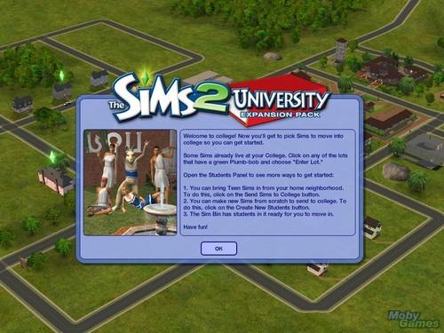 The Sims 2: University screenshot