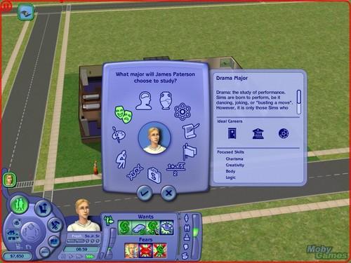The Sims 2: বিশ্ববিদ্যালয় screenshot