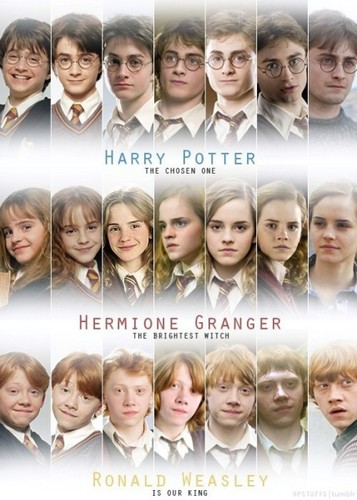 The golden trio through the years