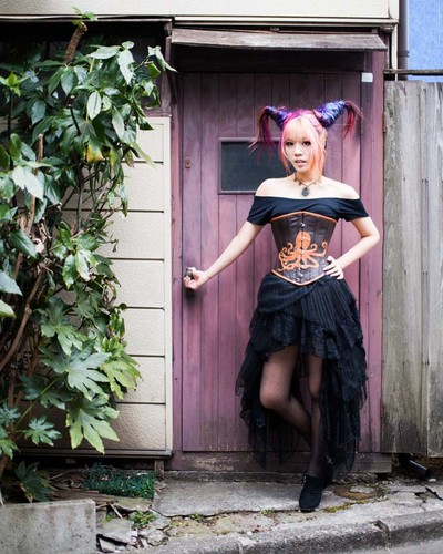 Tokyo, Japan steampunk model La Carmina, lacarmina steam punk couture fashion